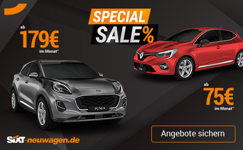 Special Sale Aktion SIXT Neuwagen