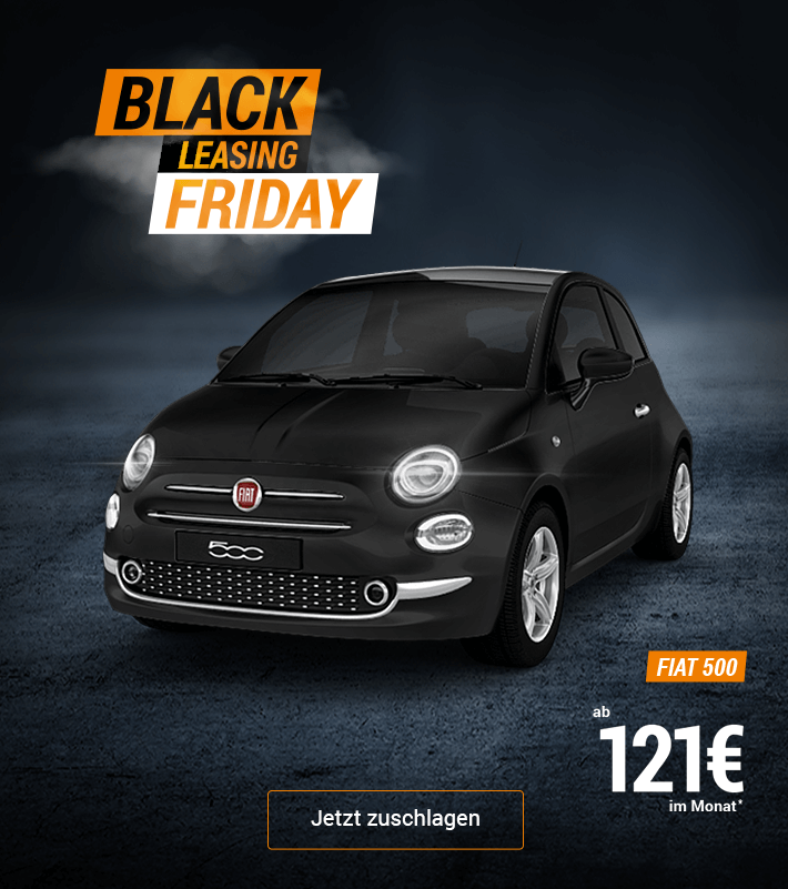Black Leasing Friday Fiat 500