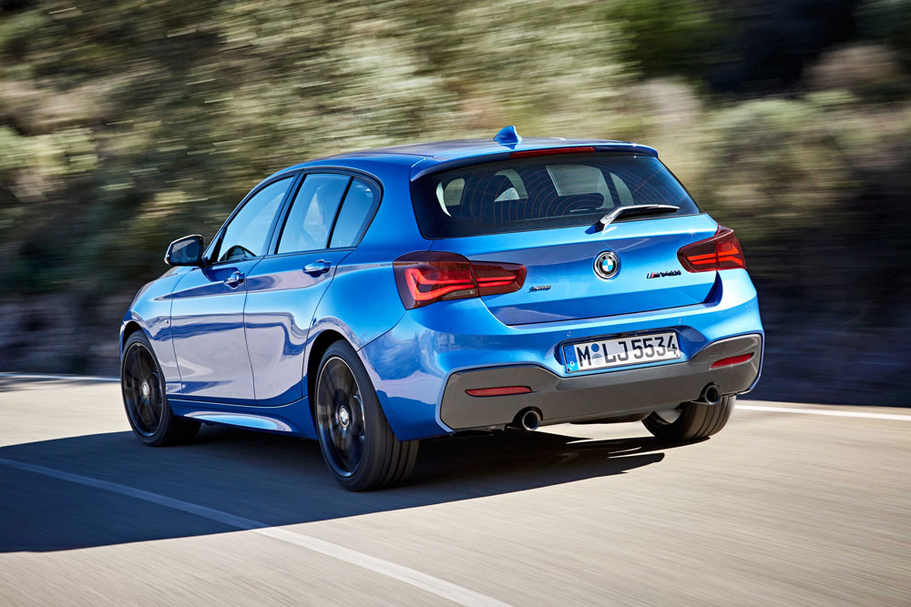 BMW 1er Seaside Blue Exterior Heck
