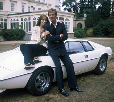 "Barbara Bach, Roger Moore,Lotus Esprit S1 ""Wet Nellie"""